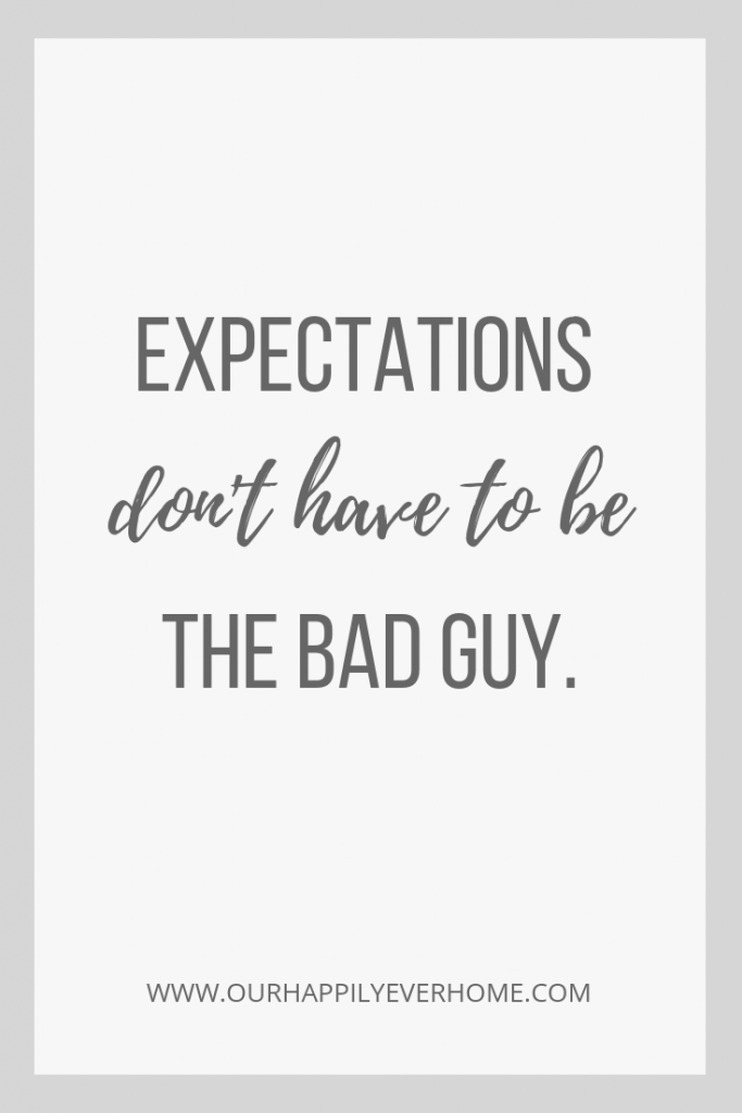 Expectation can be good if we have the right perspective