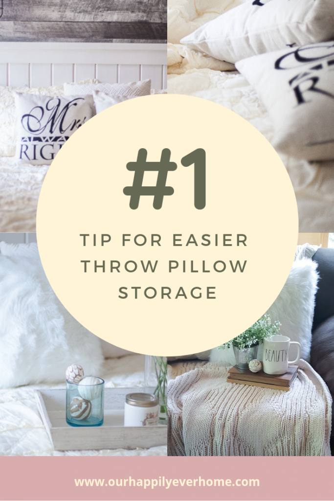 Throw Pillow Storage Solution
