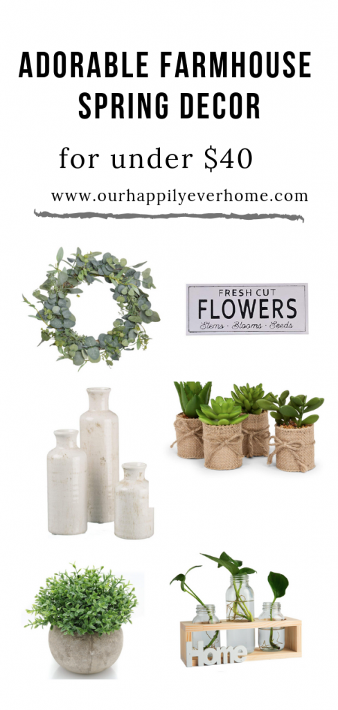 Affordable Spring Farmhouse Decor