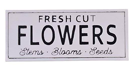 Fresh Cut Flowers Spring Decor Sign