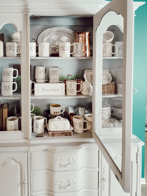 How To Decorate A Hutch - Our Happily Ever Home