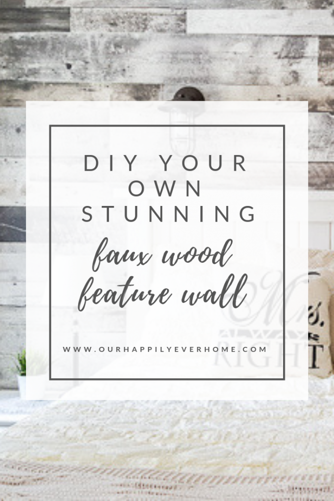 DIY Faux Wood Feature Wall
