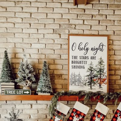 Beautiful DIY O Holy Night Sign