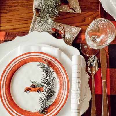 Christmas Tree Farm Tablescape