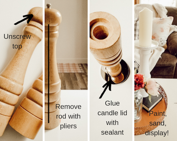 DIY Wooden Candlesticks