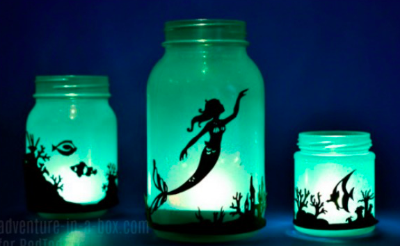 diy mermaid lanterns