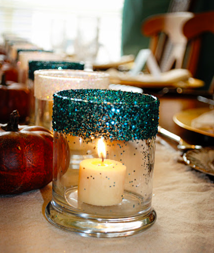 gussied candle holders