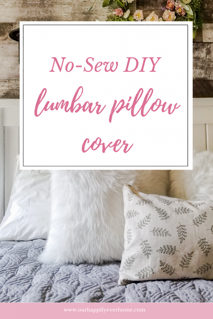 no-sew diy lumbar pillow cover