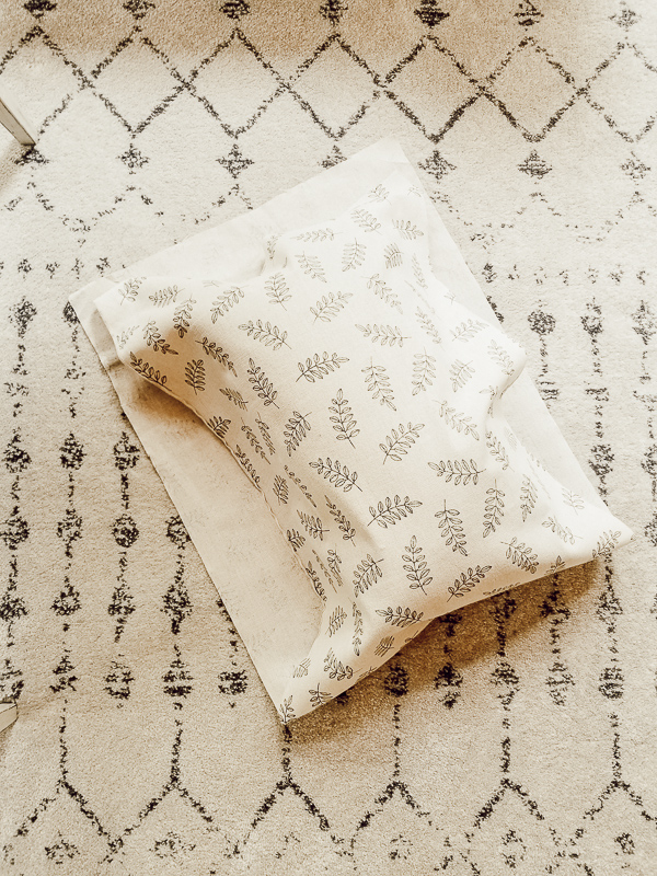 No-Sew DIY Lumbar Pillow Cover Tutorial