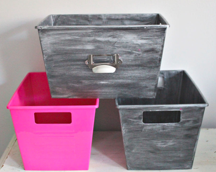 plastic to metal bins