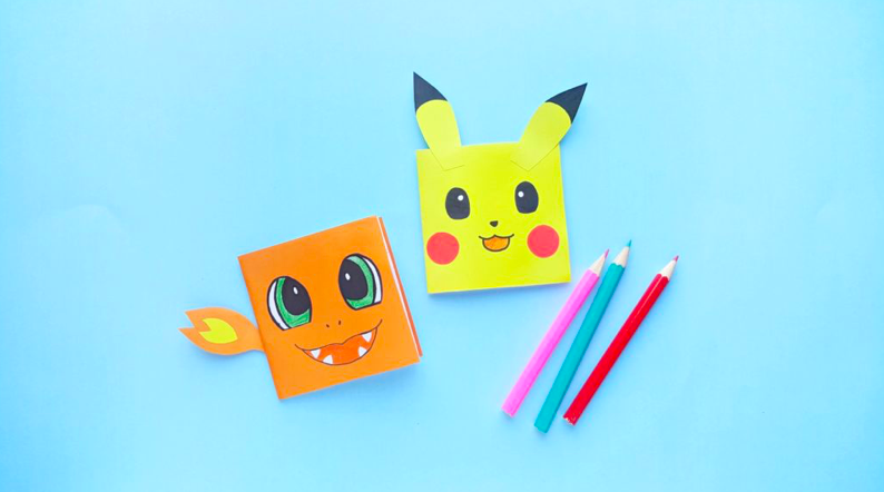 pokemon notepad diy