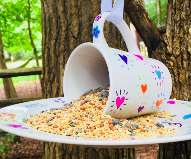 sharpie bird feeder mug