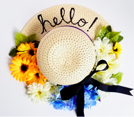 sun hat wreath
