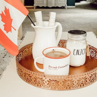 Canada Day Tray Decor