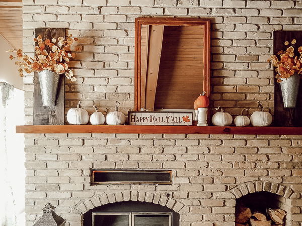 fall home tour mantel