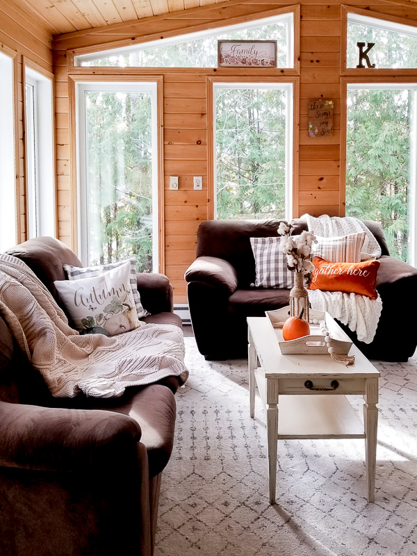 fall home tour sunroom